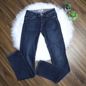 PAIGE Dark Wash Blue Skyline Straight Jeans